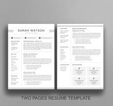 modern clean resume template modern and clean resume template