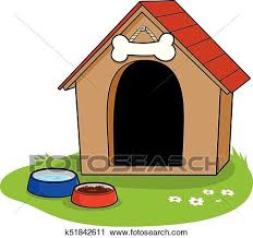 dog house clipart. Perfect Clipart A Doghouse And Bowls Of Water Dog Food For Dog House Clipart 0