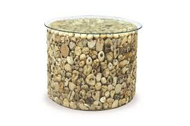bayliner oceans driftwood round drum table