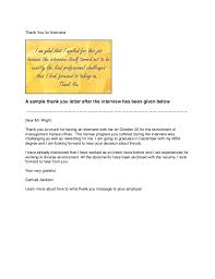 Thank You After Interview Template How To Write A Thank You Message After Interview