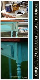 distressed turquoise furniture. Distressed Turquoise With Chocolate Glaze In Furniture
