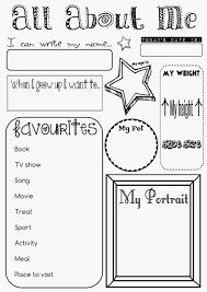 All About Me Coloring Page Coloring Home