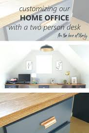 home office with two desks. Exellent Home Customizing Our Office Space Two Person Deskshared Desk  Layout Medium Size To Home With Desks T