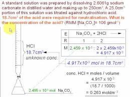 Titration Formula 3 Titration Calculations Sodium Carbonate Youtube