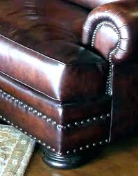 leather sofa with trim nail head brass grey nailhead sectionals