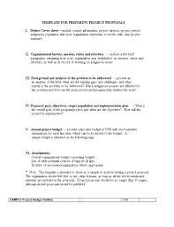 Free Project Preparing Budget Proposal Templates At Sample