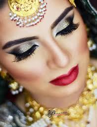 barat bride makeup by bushra abbasi