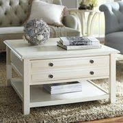 High Quality ... Anywhere Antique White Square Coffee Table With Knobs ...