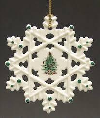 Spode Spode Christmas Tree Miscellaneous Ornaments Snowflake - Boxed