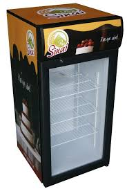 small table top fridge with glass door for drink jga sc120