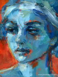 mixed a portrait by juna biagioni acrylic paint and oil pastel this portrait was
