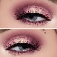 simple pink eye shadow makeup idea