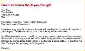 Bunch Ideas Of Phone Interview Thank You Letter Template About Thank