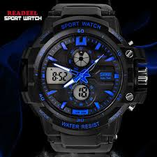 readeel dual movement sports watches men electronic digital analog readeel dual movement sports watches men electronic digital analog shockproof silicone watch waterproof wristwatches for mens1