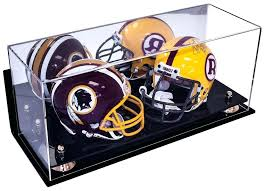 wall mountable football display case collectible double mini football helmet mini goalie mask display case with