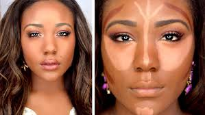 how to contour highlight foundation for black women makeup tutorial 2016 dark skin lets learn makeup