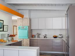 remodeling mid century modern kitchen design ideas with wood ceiling and stone wall plus wall art also tile flooring ideas