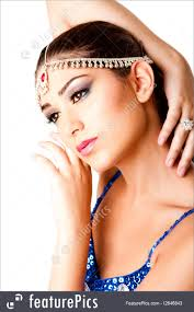 middle eastern makeup beauty face with hands royalty free stock picture