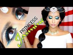 princess jasmine makeup and hair tutorial
