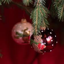 Weihnachtskugeln Teddybär Christbaumschmuck Aus Glas