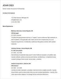 Basic Resume Template Free Extraordinary Resume Template Resume Format Samples Sample Resume Template