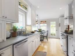 Kitchen Designs Galley Style Inspiration Kitchen Clean White Subway Tiles In Galley Kitchen Remodel With