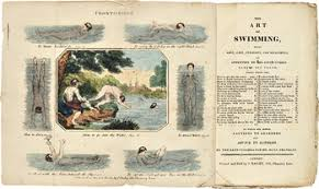 at william reese co teri osborn and i had a laugh over this hand colored frontispiece of the art of swimming c 1810 1820 so fascinated by the