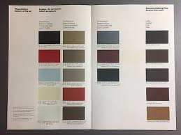 1983 Porsche 911 Sc 911 Turbo Factory Issued Color Chart