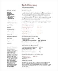 template for academic cv