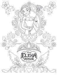 Small Picture Elena Of Avalor Coloring Pages GetColoringPagescom