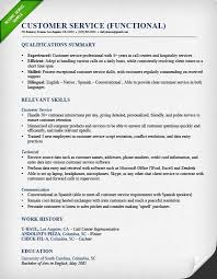 Sample Customer Service Resumes Interesting Functional Resume Samples Writing Guide RG