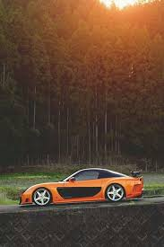 mazda rx7 fast and furious body kit. tokyo drift orange rx7 rep mazda fast and furious body kit