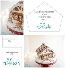 Gingerbread House Patterns Cool Standard Gingerbread House Free Printable Template Tikkido