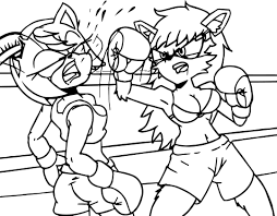 Boxing Gloves Coloring Pages Of 1 9 Futuramame