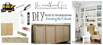 Built In Cabinets Beside Fireplace Built Ins Part One Mounting The Cabinets The Weathered Fox