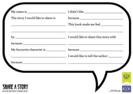 Share A Story Book Review Template - World Book Day
