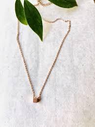 fashion jewelry tiny brushed rose gold