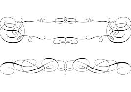 Scroll Border Designs Swirly Scroll Frame And Border Vectors Download Free