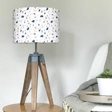 white terrazzo style handmade lampshade