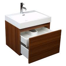 Teak Vanity Bathroom 23 Inch Modern Bathroom Vanity Single Sink Teak Tn A600 Tk