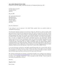 Journalism Cover Letter Format Resume Examples Work Experience