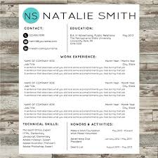 Modern Resume Style Esty Resume Templates Designs For Millennials The Sophisticated Gal