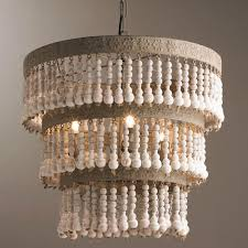 furniture beautiful beaded chandelier shades 0 brass kitchen unique three tiered wood of light photos white
