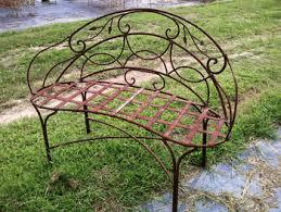 Wrought Iron Bench  TreenovationOutdoor Wrought Iron Bench