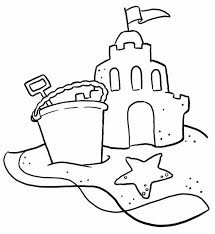 Jerry On A Sand Castle Coloring Page | Kids Coloring Page - AZ Colorare