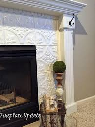 naughton your life fireplace makeover with tin tile i do love fire placeantels fireplace warehouse tile ideas and tile design