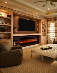 electric fireplace built in wall tv mount bookshelves