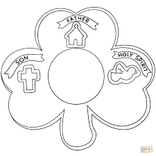 Small Picture Shamrock Holy Trinity coloring page Free Printable Coloring Pages