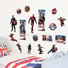 Newest Impression 3d Cartoon Movie The Avengers Captain Home Decal Wall Sticker Boys Love Kids Room Decor Child Gifts