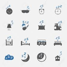 Two Tone Icons Two Tone Sleep And Lifestyle Icons Set Vector Illustration Royalty